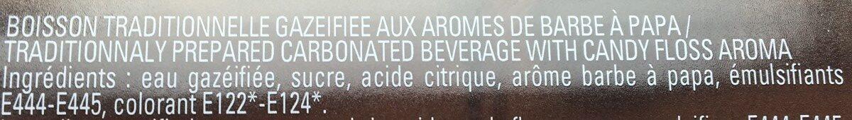 Limonade Jean d'audignac barbe à papa 75cl - Ingrédients - fr