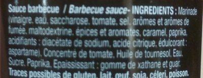 Sauce Barbecue - Ingredienti - fr
