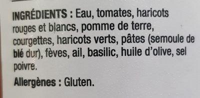 Soupe Au Pistou - Ingrédients - fr