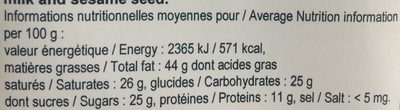 Chocolat noir 74% - Nutrition facts - fr