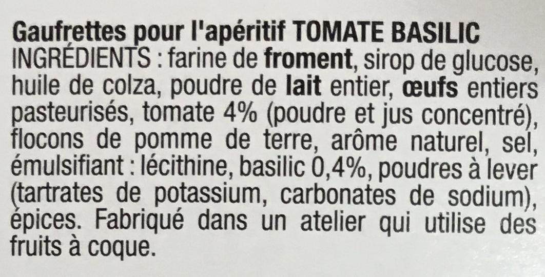 Les Petits Écus Tomate & Basilic - Ingredients