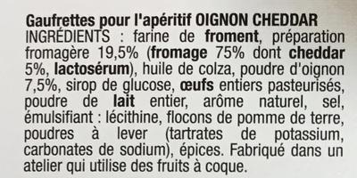 Les Petits Écus Oignon & Cheddar - Ingrediënten - fr