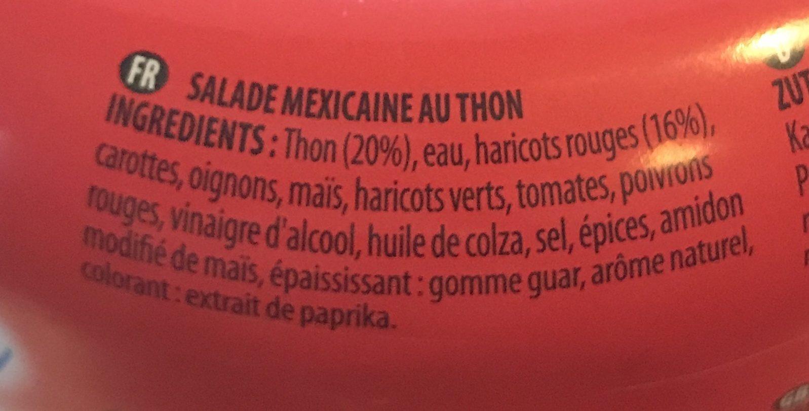 Salade Mexicaine au Thon - Ingrediënten