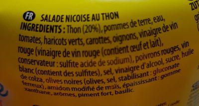 Salade Nicoise au Thon - Ingrédients - fr