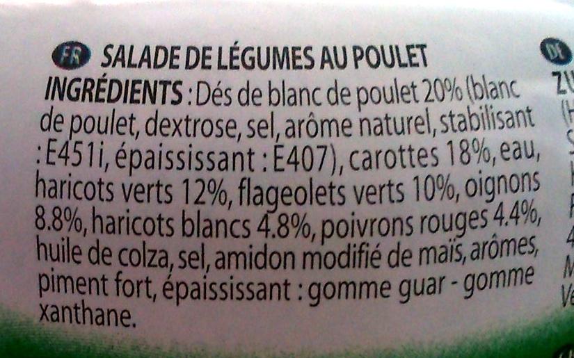 Salade Campagnarde de Poulet - Ingrediënten - fr