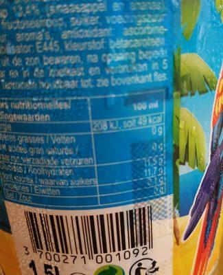 Tropico Exotique - Ingredients