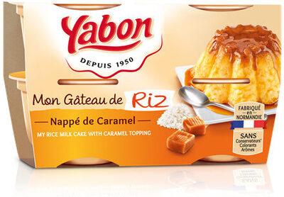 Gâteau de Riz nappage Caramel (4 pots) - Produit - fr