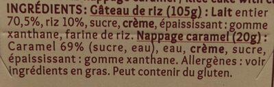 Gâteau de Riz nappage Caramel (4 pots) - Ingrédients - fr