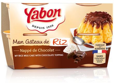 Gâteau de riz nappé de chocolat - Produit - fr