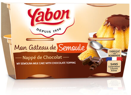 Gâteau de Semoule nappage Chocolat - Product