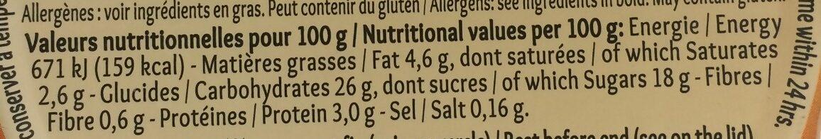 Mon Gâteau de Riz Nappé de Caramel - Nutrition facts