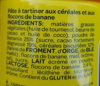 Banania - Ingredienti - fr