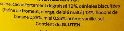 Banana Format Familial 1,2kg - Ingrediënten