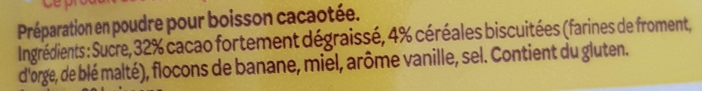 Banania Arome Intense - Ingrediënten - fr