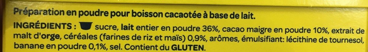 Banania capsule - Ingredients - fr