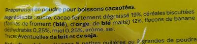 Banania chocolat en poudre - Składniki - fr
