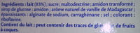 Vanille de Madagascar (3,5 % MG) - Ingrédients