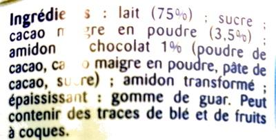 La Crème Dessert Au Chocolat - Ingrediënten
