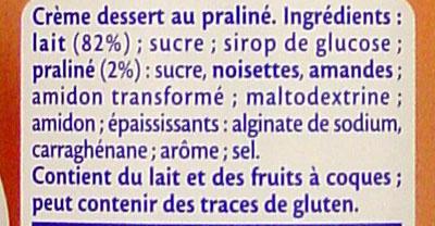 Praliné (3,9 % MG) - Ingredients
