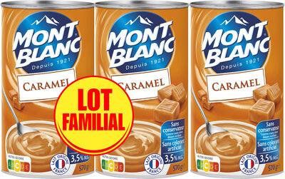 MONT BLANC Crème Dessert Caramel 3x570g Lot Familial - Produit - fr