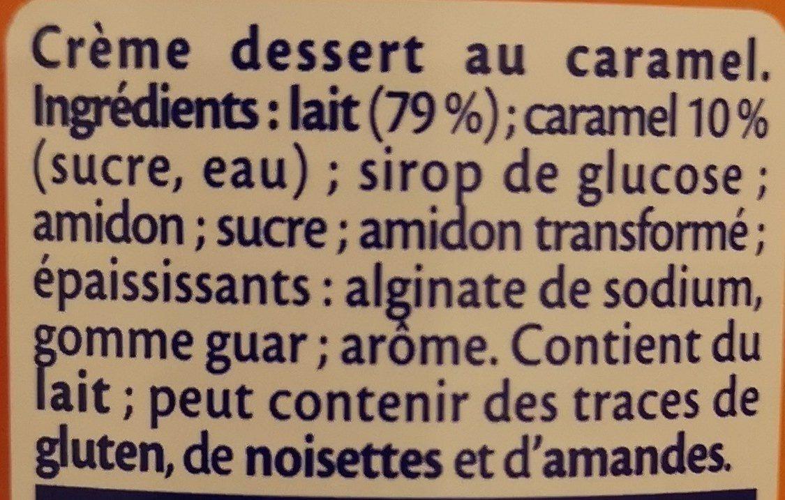 MONT BLANC Crème Dessert Caramel 3x570g Lot Familial - Ingrédients - fr
