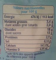 Récré O'lé vanille - Nutrition facts