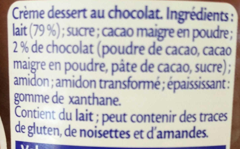 Chocolat extra fin - Ingredienti - fr