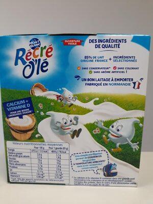 RÉCRÉ O'LÉ Chocolat 4x85g - Informations nutritionnelles - fr