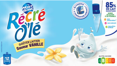 RÉCRÉ O'LÉ Saveur Vanille 12x85g - Produit - fr