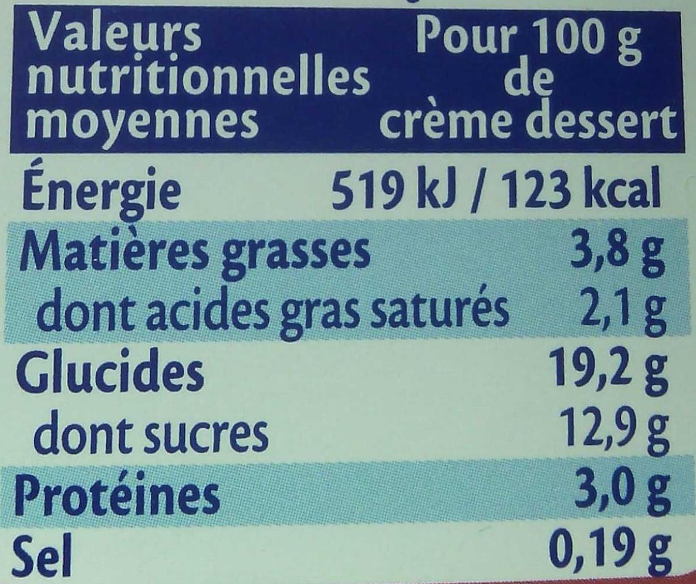 Crème vanille saveur noix de pécan - Informations nutritionnelles - fr