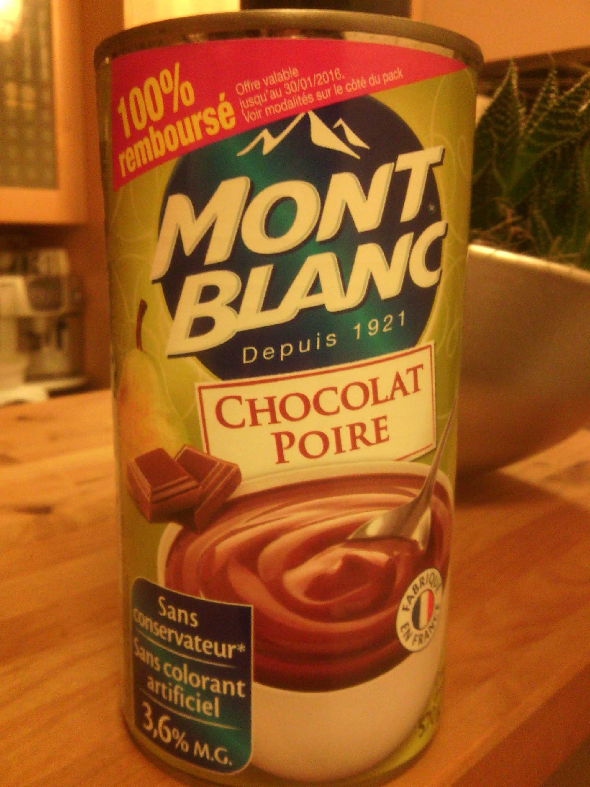 chocolat poire 3 6 mg mont blanc 570 g. Black Bedroom Furniture Sets. Home Design Ideas