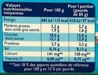 Récré O'lé Caramel - Informations nutritionnelles - fr