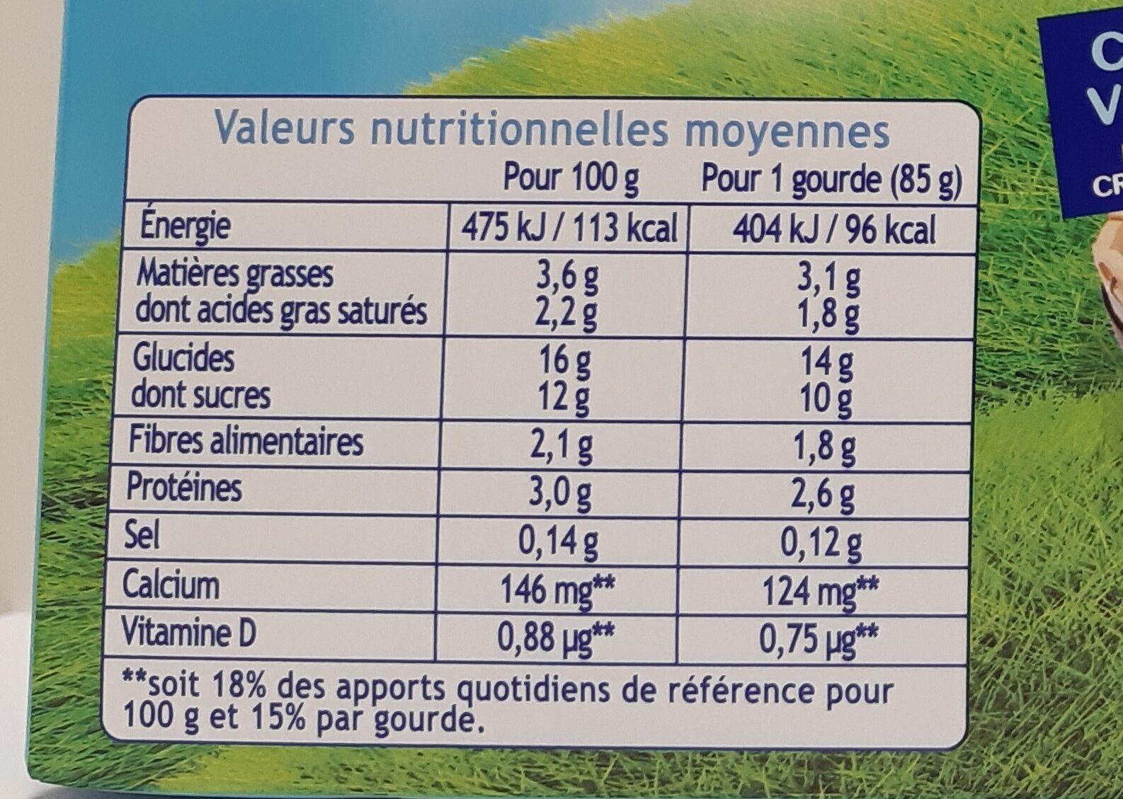 Récré O'lé chocolat - Informations nutritionnelles - fr
