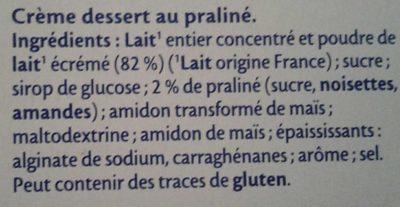 Mont Blanc Praliné - Ingredients
