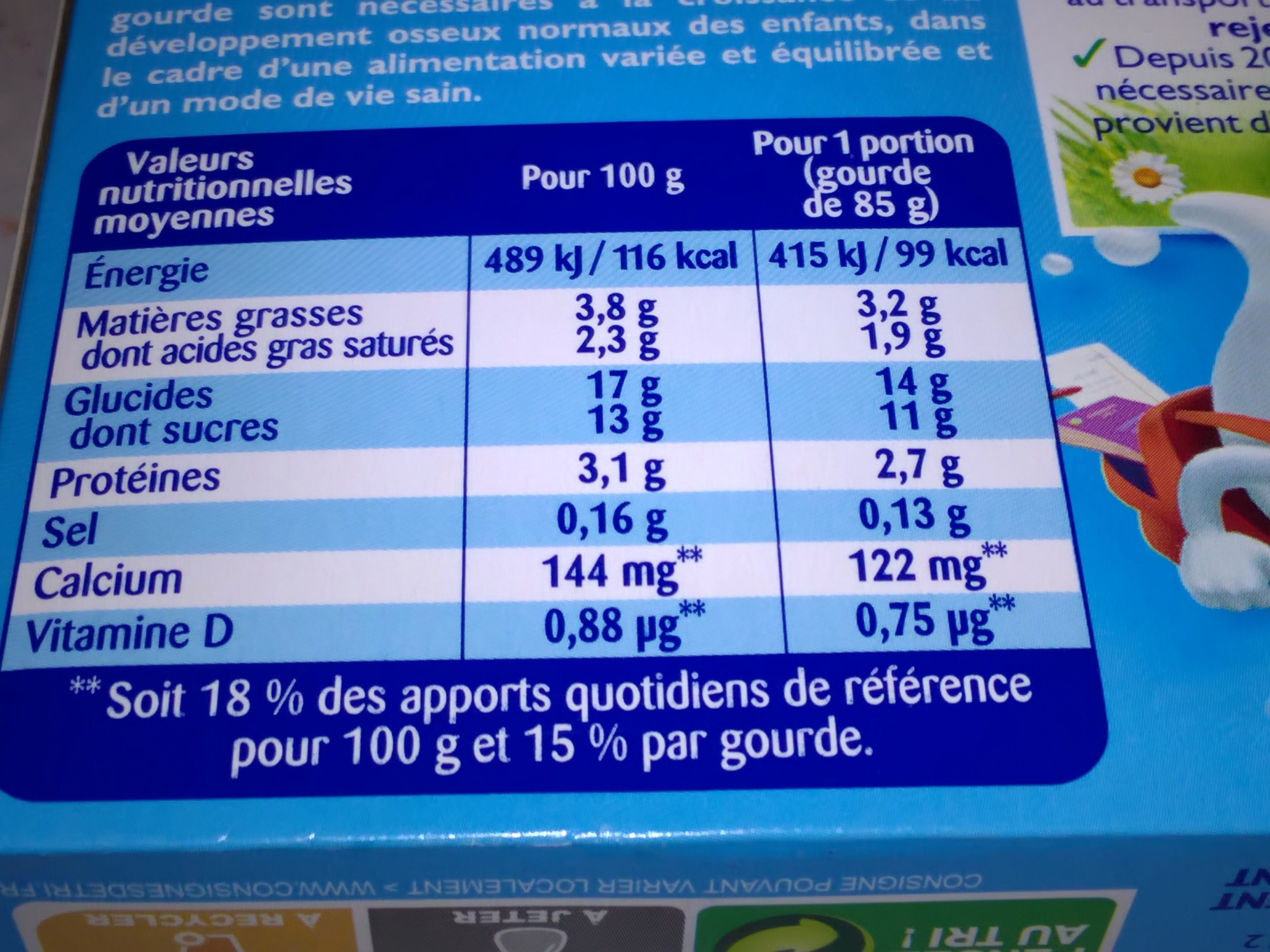 Récré O'lé Saveur Brownie - Nutrition facts - fr