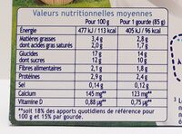 Récré O'lé saveur biscuit - Informations nutritionnelles - fr