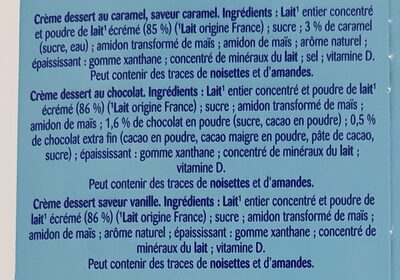 Récré O'lé multi-variétés caramel, chocolat, saveur vanille - Ingrédients