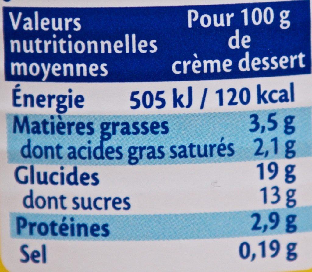 Crème Dessert Citron Meringue - Informations nutritionnelles - fr