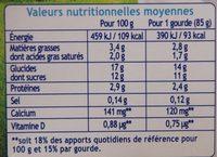 Récré O'lé Saveur Madeleine - Voedingswaarden
