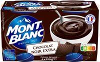 MONT BLANC Crème Dessert Chocolat Noir Extra - Produit - fr