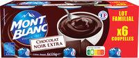 MONT BLANC Crème Dessert Chocolat Noir Extra 6x125g Format Familial - Produit - fr
