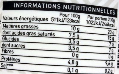 Yaourt grec 100% lait de vache du Nord de la Grèce - Informations nutritionnelles - fr