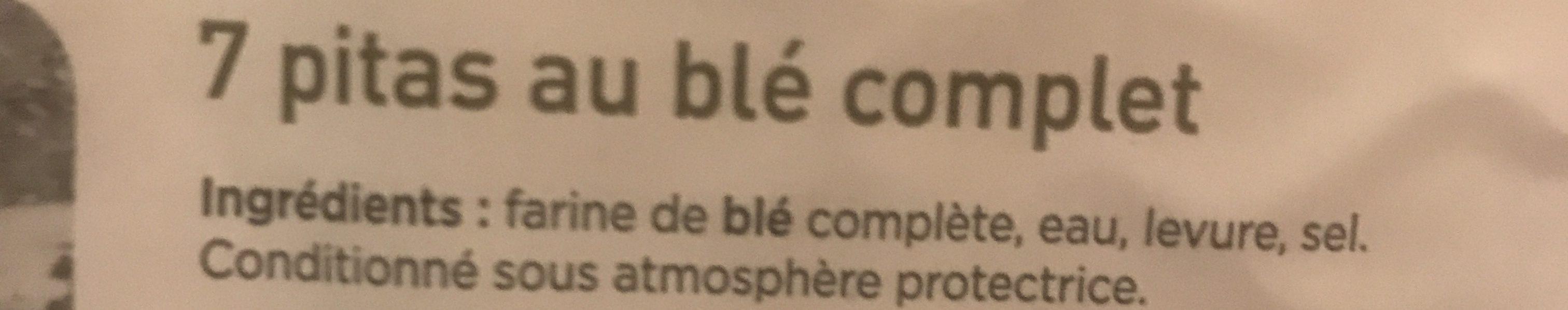 Pita pain libanais complet - Ingrediënten - fr