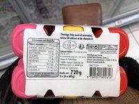 Fromages frais aromatisés saveur abricot - saveur fraise - saveur framboise - Ingredients