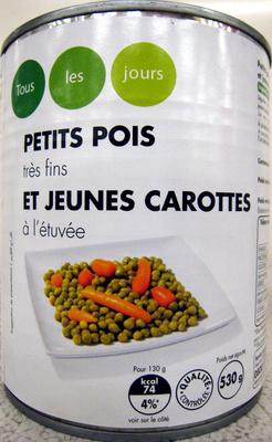 Petits pois très fins jeunes et carottes à l'étuvée - Produit