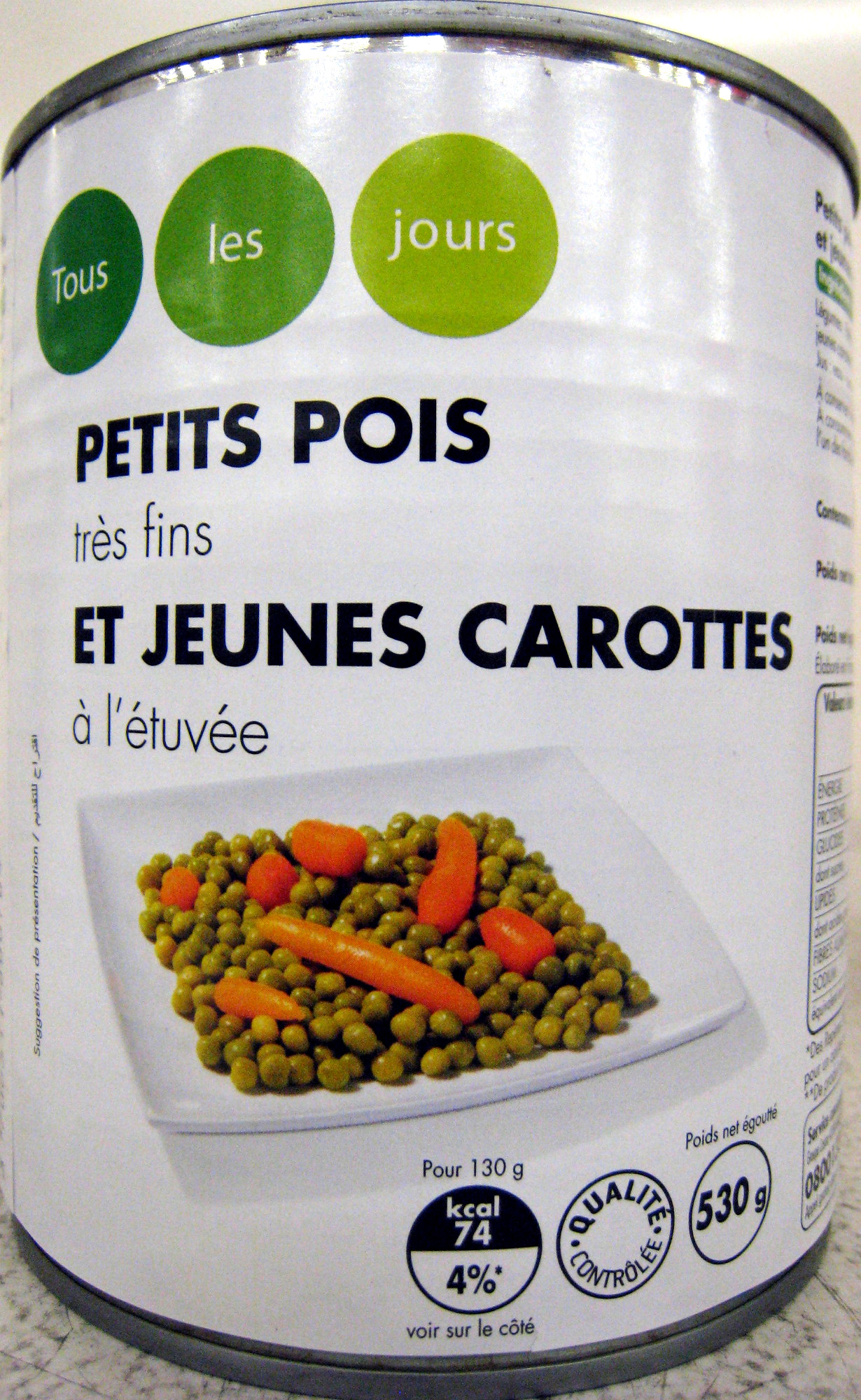 Petits pois très fins jeunes et carottes à l'étuvée - Produit - fr