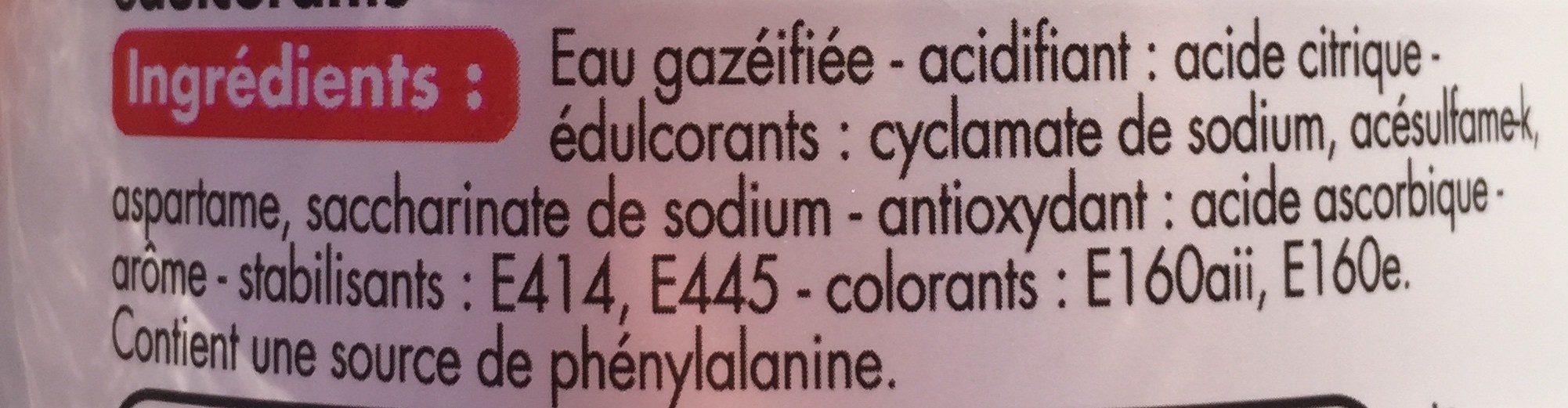 Soda goût Orange - Ingredients