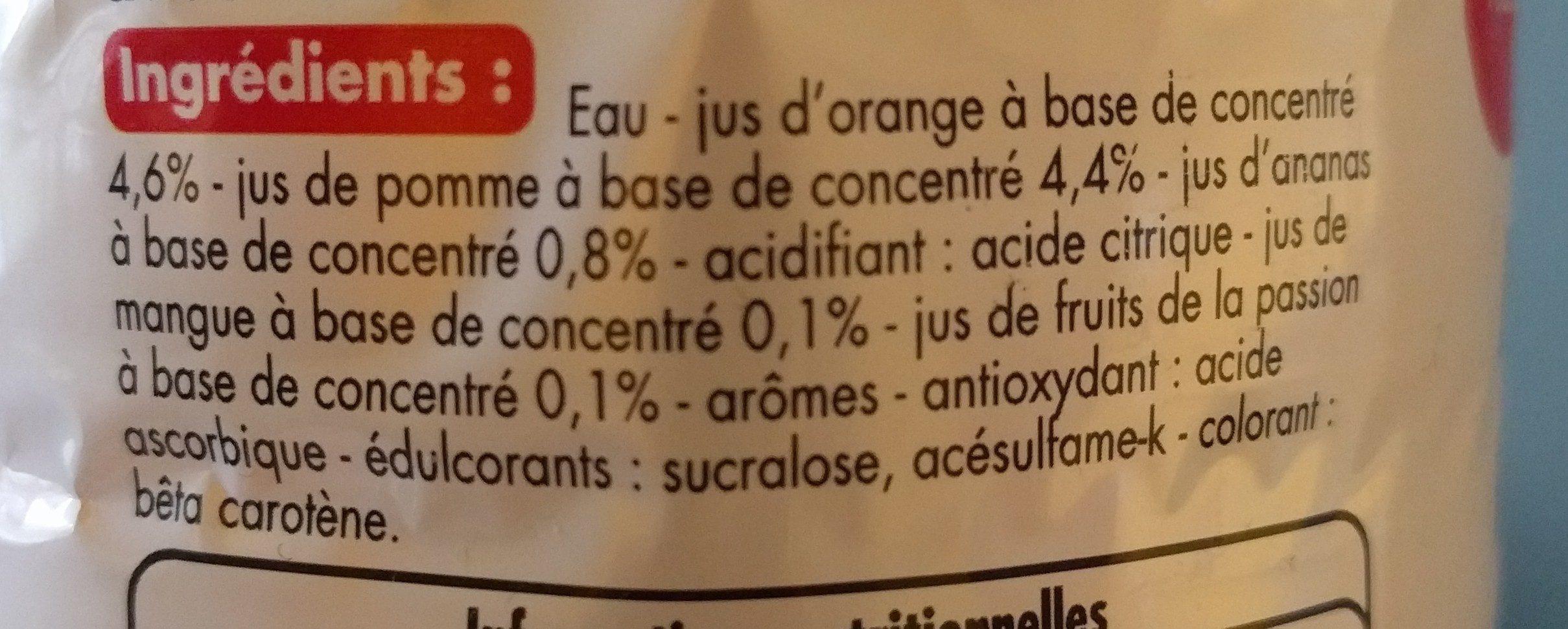 Boisson aux Fruits exotique - Ingrédients