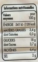 Bâtonnets saveur crabe - Informations nutritionnelles - fr