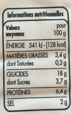 Bâtonnets saveur crabe - Voedingswaarden - fr